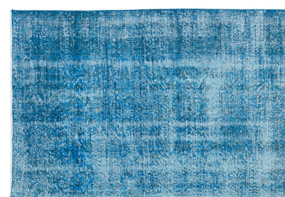 Turquoise  Over Dyed Vintage Rug 7'1'' x 10'6'' ft 216 x 320 cm