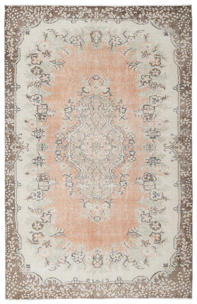 Retro Over Dyed Vintage Rug 5'10'' x 9'1'' ft 178 x 276 cm