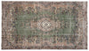Retro Over Dyed Vintage Rug 5'5'' x 9'7'' ft 165 x 293 cm