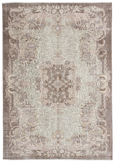 Beige Over Dyed Vintage Rug 6'0'' x 8'5'' ft 183 x 256 cm