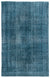 Turquoise  Over Dyed Vintage Rug 5'7'' x 8'11'' ft 171 x 272 cm
