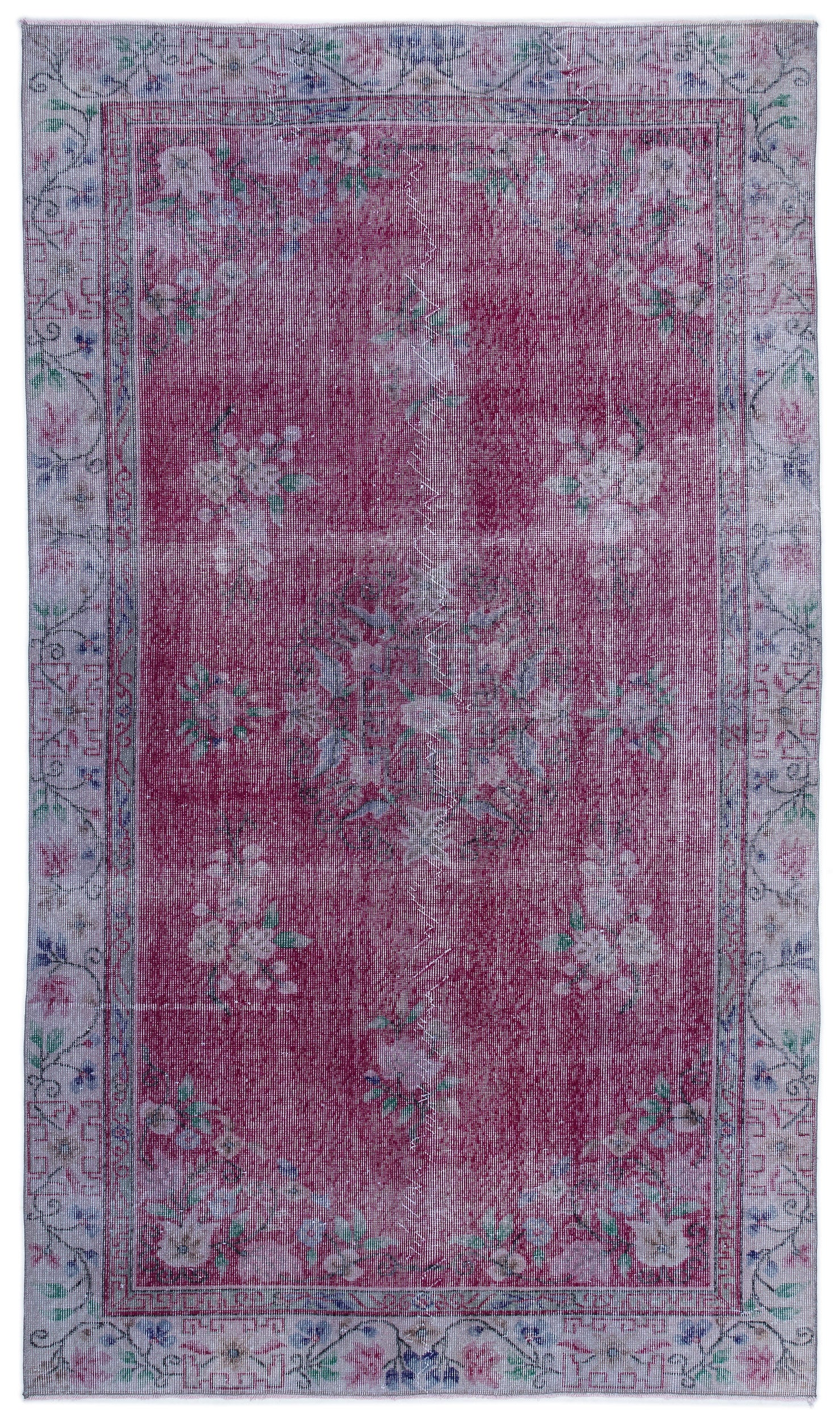 Naturel Over Dyed Vintage Rug 5'7'' x 9'6'' ft 169 x 290 cm