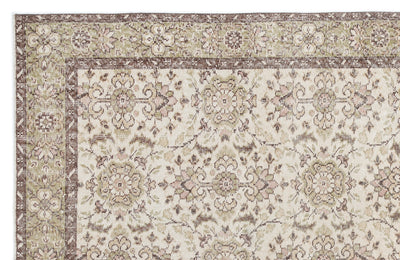 Beige Over Dyed Vintage Rug 6'6'' x 9'12'' ft 197 x 304 cm