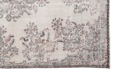 Naturel Over Dyed Vintage Rug 6'2'' x 9'11'' ft 188 x 303 cm