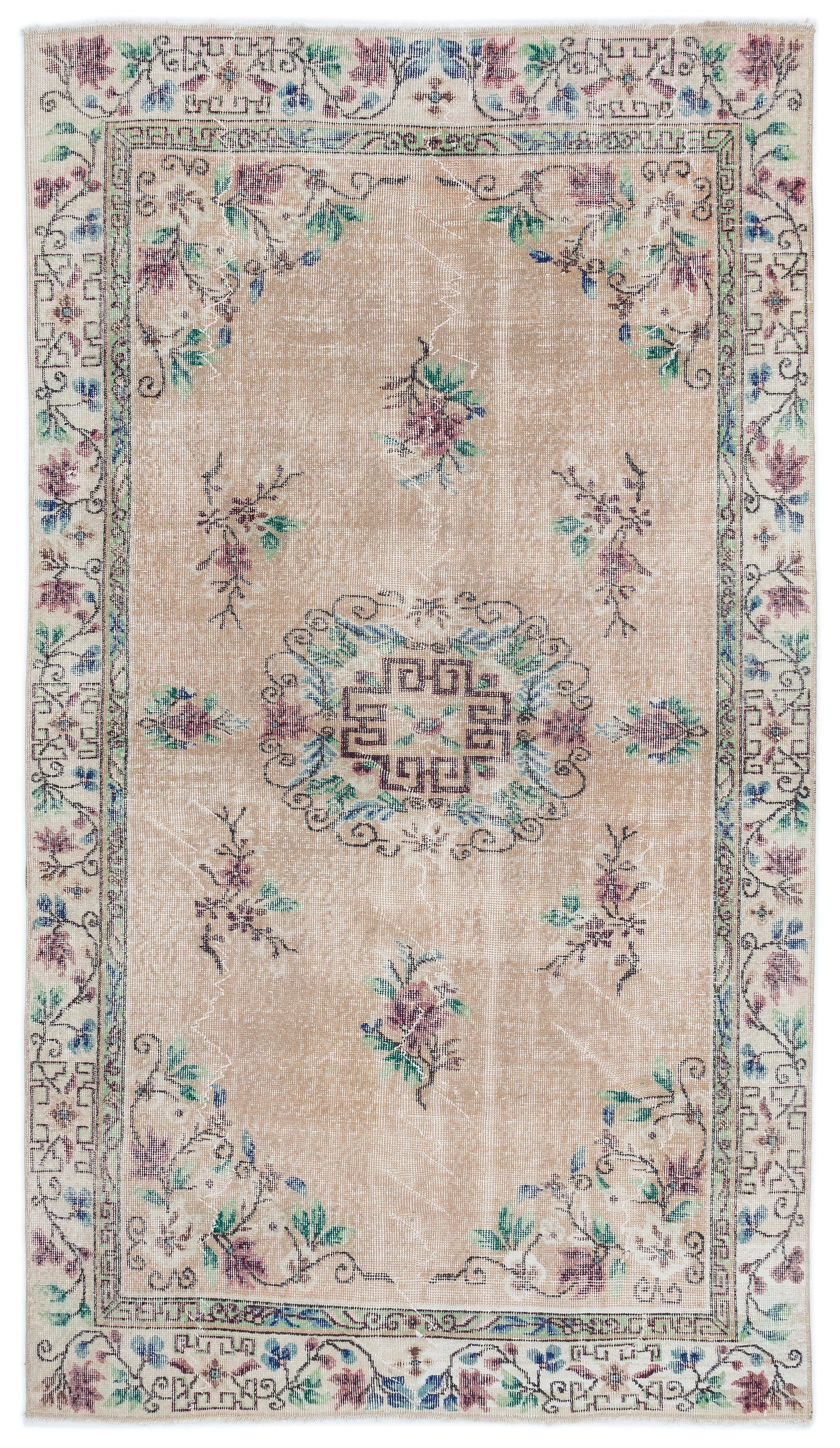 Retro Over Dyed Vintage Rug 5'3'' x 8'7'' ft 160 x 261 cm