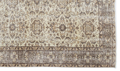 Beige Over Dyed Vintage Rug 4'10'' x 8'2'' ft 147 x 248 cm