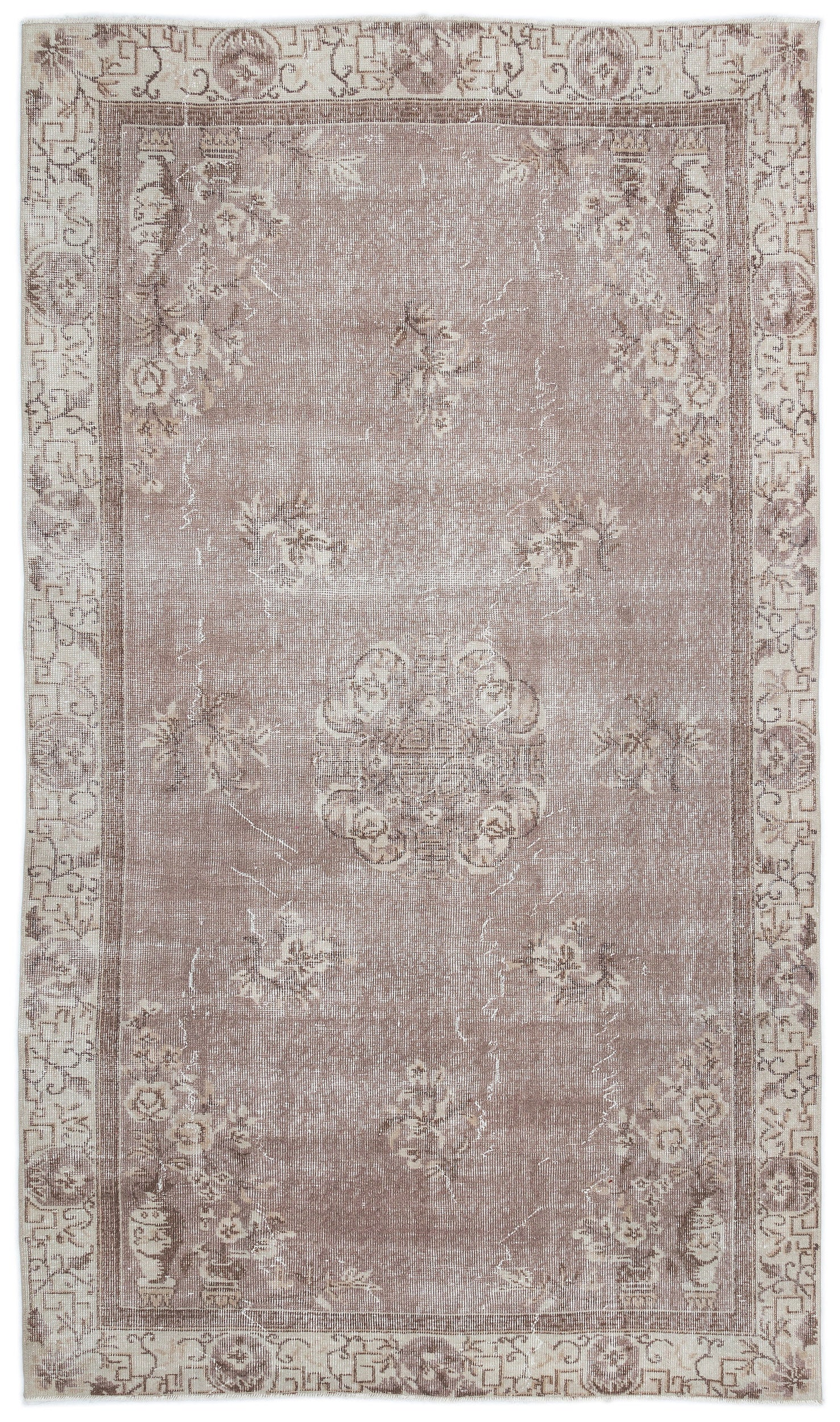 Retro Over Dyed Vintage Rug 5'2'' x 8'9'' ft 158 x 267 cm