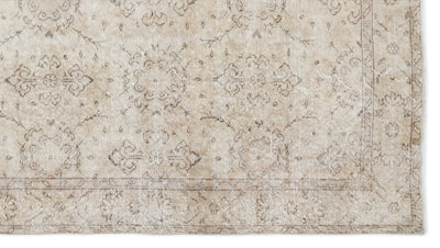 Beige Over Dyed Vintage Rug 5'6'' x 9'10'' ft 168 x 300 cm