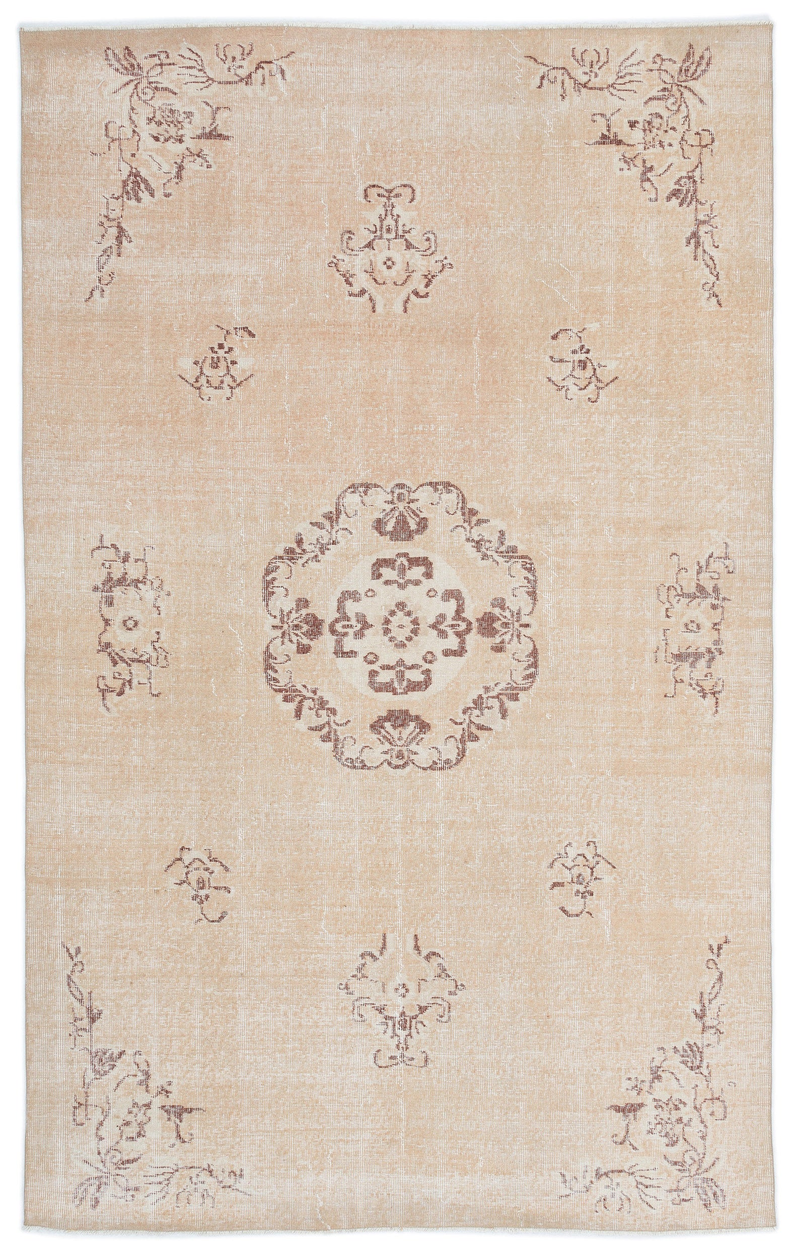Retro Over Dyed Vintage Rug 5'10'' x 9'2'' ft 179 x 279 cm
