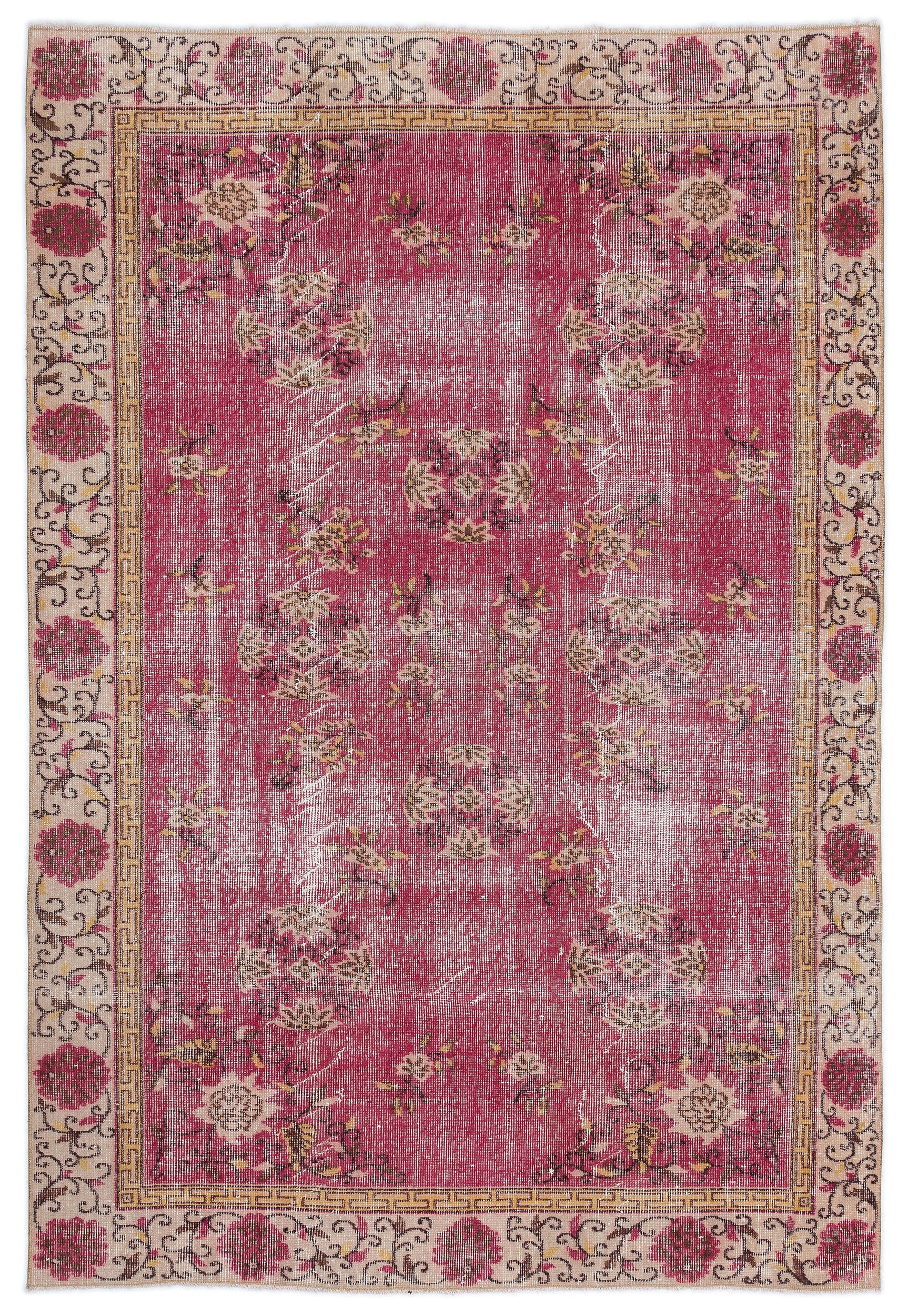 Retro Over Dyed Vintage Rug 5'9'' x 8'5'' ft 174 x 256 cm