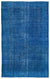 Turquoise  Over Dyed Vintage Rug 6'1'' x 9'9'' ft 185 x 296 cm