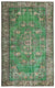 Retro Over Dyed Vintage Rug 5'11'' x 9'6'' ft 180 x 289 cm