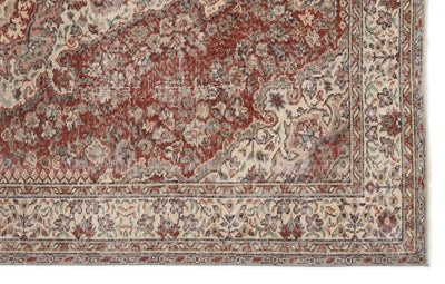 Retro Over Dyed Vintage Rug 5'5'' x 8'8'' ft 164 x 263 cm