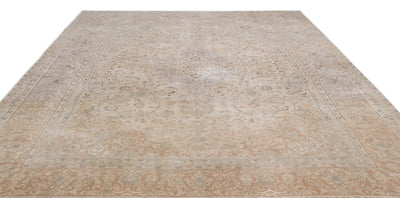 Beige Over Dyed Persian Rug 9'4'' x 12'9'' ft 285 x 388 cm