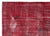 Red Over Dyed Vintage Rug 5'7'' x 7'10'' ft 171 x 238 cm