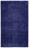 Purple Over Dyed Vintage Rug 5'8'' x 9'3'' ft 172 x 283 cm