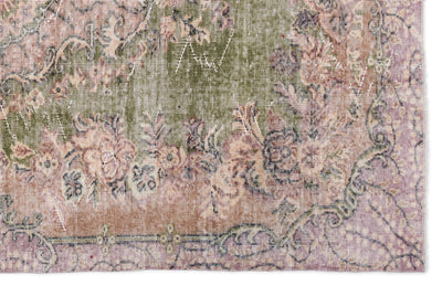 Naturel Over Dyed Vintage Rug 5'3'' x 8'3'' ft 160 x 251 cm