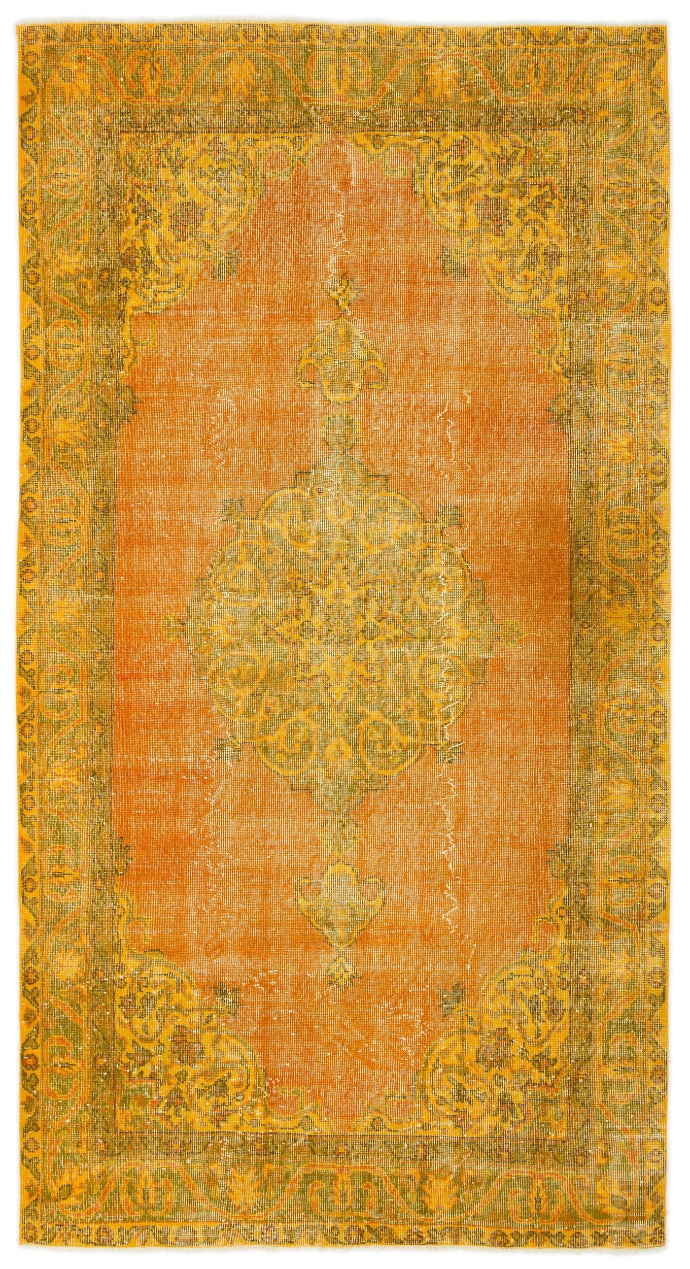Naturel Over Dyed Vintage Rug 5'3'' x 9'5'' ft 160 x 286 cm