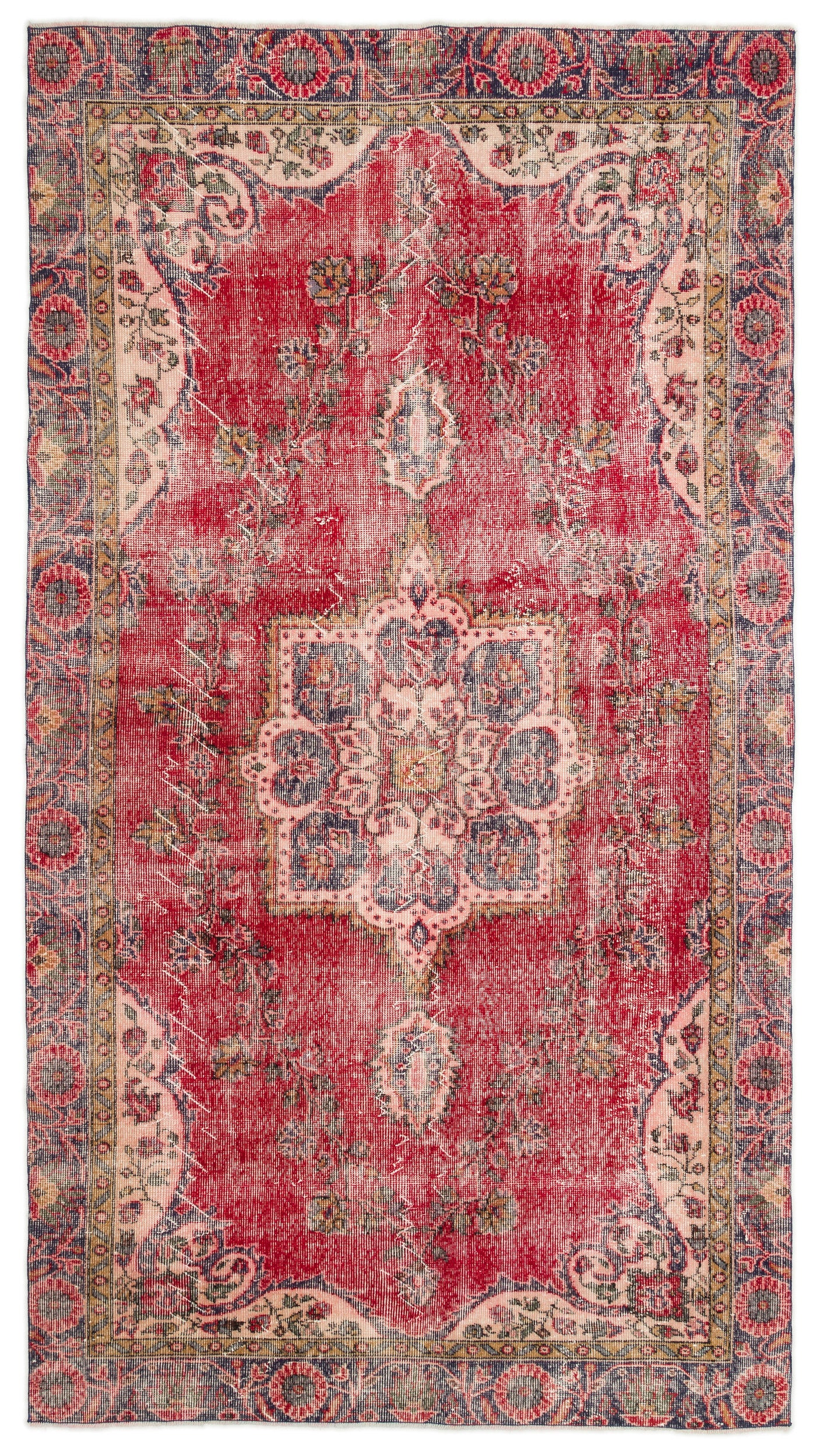 Naturel Over Dyed Vintage Rug 5'5'' x 9'9'' ft 165 x 298 cm