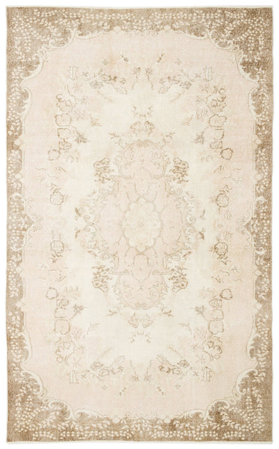 Beige Over Dyed Vintage Rug 5'11'' x 9'8'' ft 180 x 295 cm