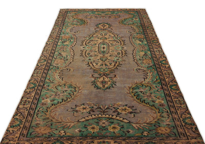 Naturel Over Dyed Vintage Rug 4'12'' x 8'6'' ft 152 x 260 cm