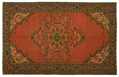 Naturel Over Dyed Vintage Rug 5'6'' x 8'6'' ft 167 x 258 cm