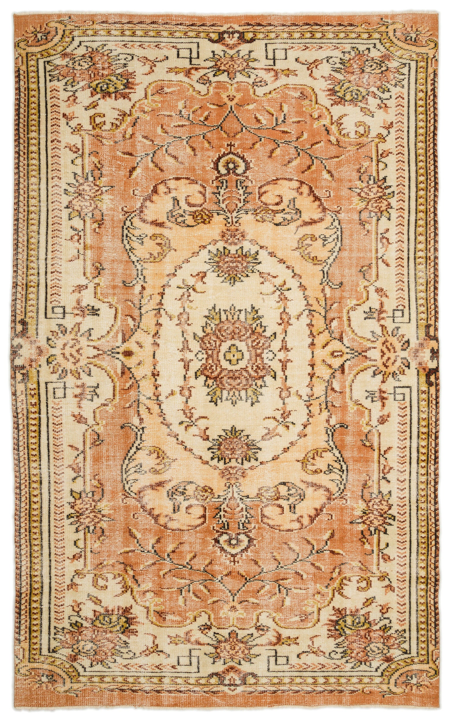 Naturel Over Dyed Vintage Rug 5'11'' x 9'4'' ft 180 x 285 cm