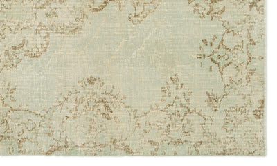 Beige Over Dyed Vintage Rug 5'1'' x 8'8'' ft 156 x 263 cm