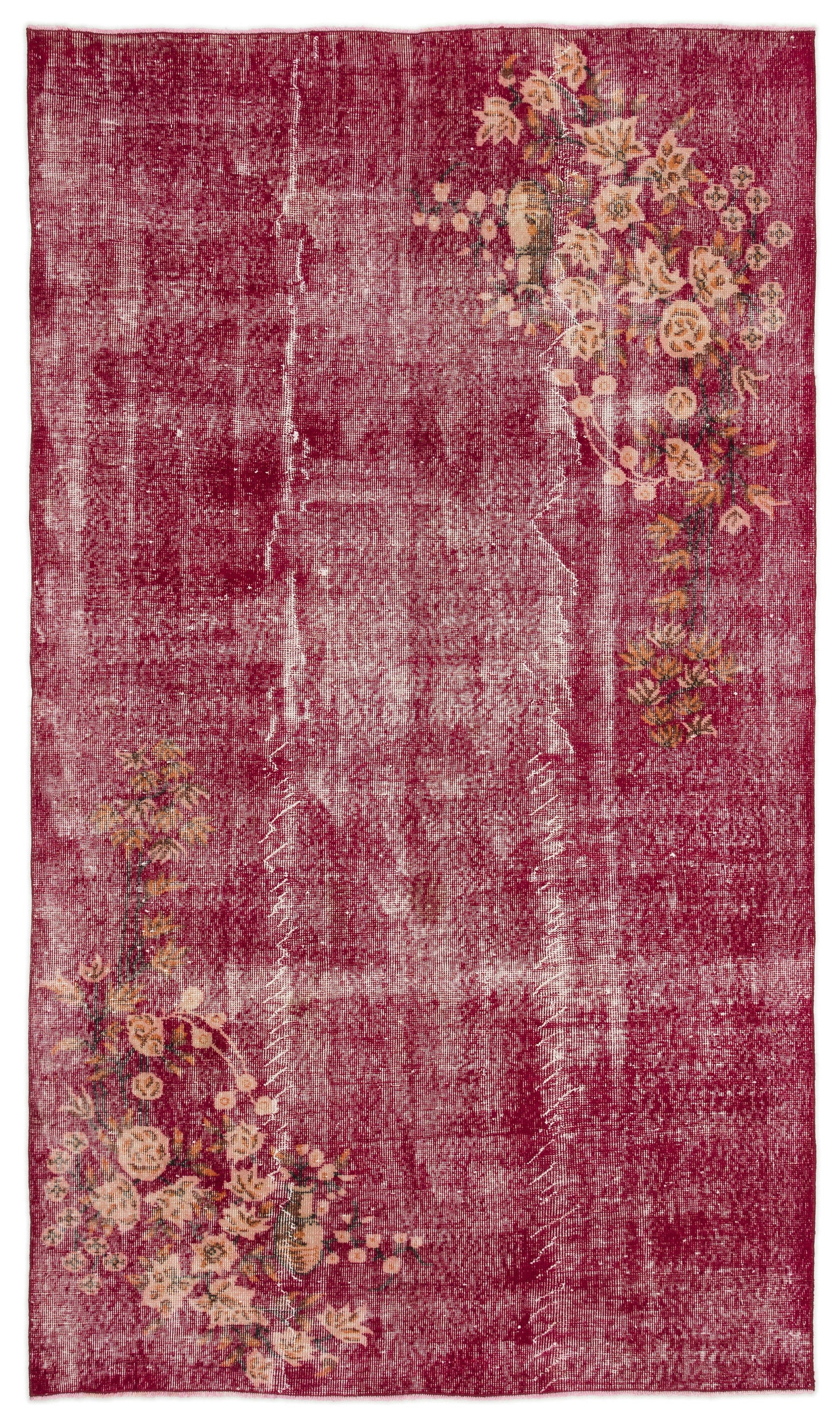 Naturel Over Dyed Vintage Rug 5'2'' x 8'12'' ft 158 x 274 cm
