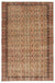 Brown Over Dyed Vintage Rug 5'4'' x 8'5'' ft 162 x 256 cm