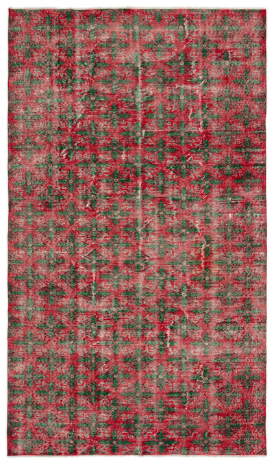 Naturel Over Dyed Vintage Rug 5'6'' x 9'2'' ft 167 x 280 cm