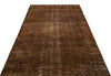 Brown Over Dyed Vintage Rug 4'11'' x 8'9'' ft 150 x 266 cm