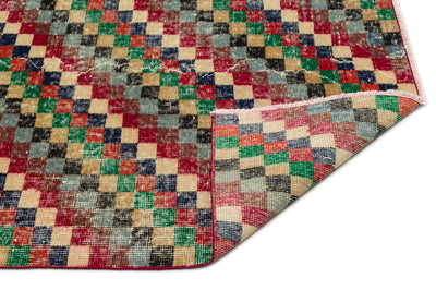 Naturel Over Dyed Vintage Rug 5'1'' x 8'7'' ft 156 x 262 cm