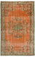 Traditional Design Natural Over Dyed Vintage Rug 5'7'' x 8'9'' ft 170 x 267 cm