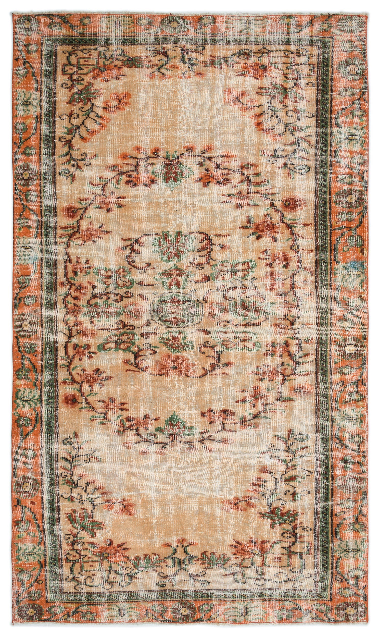 Naturel Over Dyed Vintage Rug 5'1'' x 8'9'' ft 155 x 266 cm