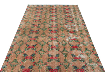 Naturel Over Dyed Vintage Rug 4'11'' x 8'9'' ft 150 x 266 cm