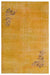 Yellow Over Dyed Vintage Rug 5'8'' x 8'6'' ft 173 x 260 cm