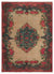 Retro Over Dyed Vintage Rug 5'5'' x 7'3'' ft 164 x 222 cm