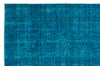 Turquoise  Over Dyed Vintage Rug 5'9'' x 8'8'' ft 174 x 265 cm