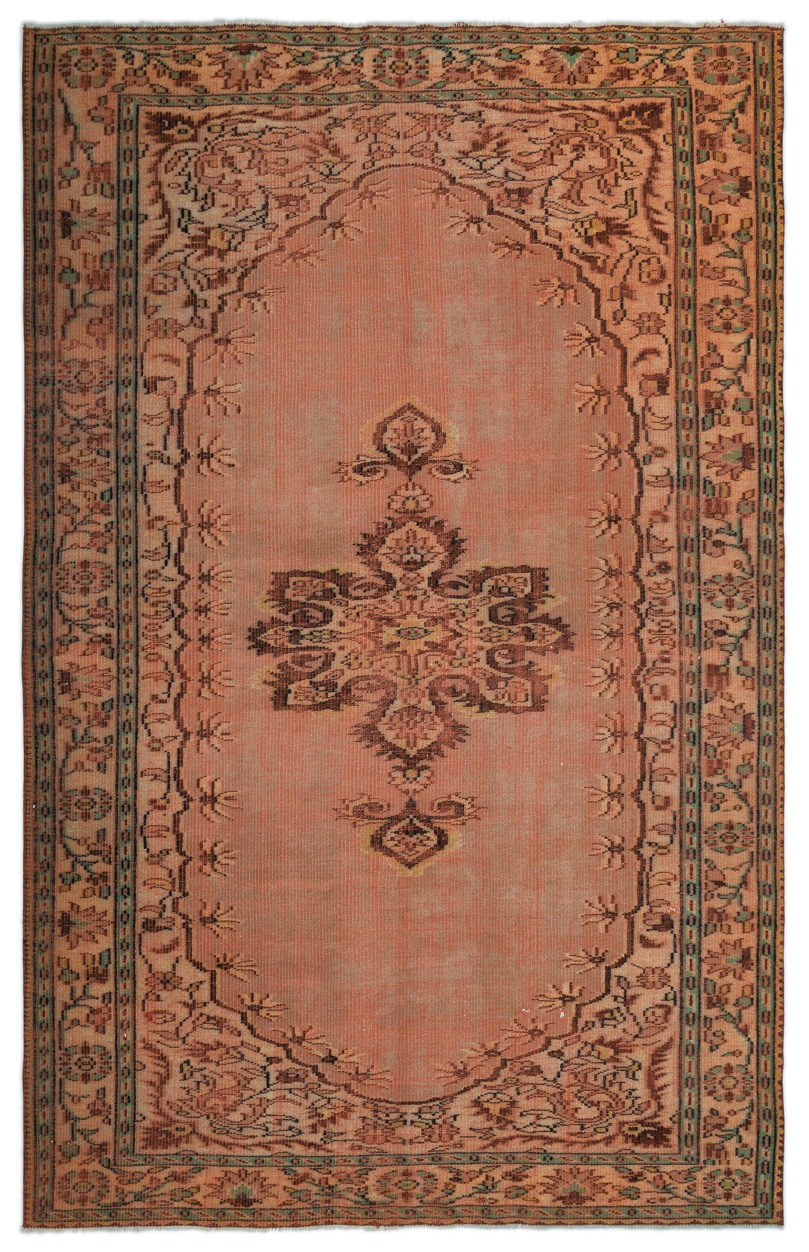 Naturel Over Dyed Vintage Rug 6'1'' x 9'6'' ft 185 x 290 cm