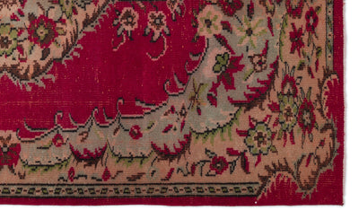 Retro Over Dyed Vintage Rug 5'1'' x 8'7'' ft 155 x 261 cm
