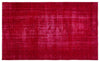 Red Over Dyed Vintage Rug 5'8'' x 9'3'' ft 172 x 282 cm
