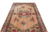 Naturel Over Dyed Vintage Rug 4'12'' x 8'7'' ft 152 x 261 cm