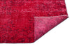 Red Over Dyed Vintage Rug 5'6'' x 9'3'' ft 167 x 281 cm