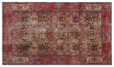 Naturel Over Dyed Vintage Rug 5'5'' x 9'7'' ft 166 x 292 cm