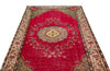 Retro Over Dyed Vintage Rug 4'12'' x 8'11'' ft 152 x 273 cm