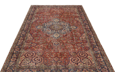 Naturel Over Dyed Vintage Rug 5'5'' x 8'5'' ft 165 x 256 cm