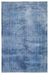 Blue Over Dyed Vintage Rug 5'5'' x 8'5'' ft 164 x 256 cm