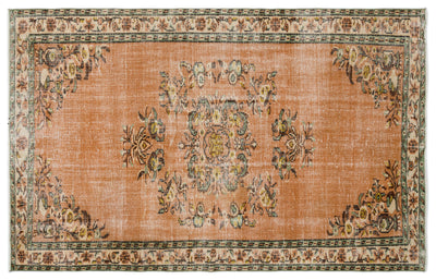 Retro Over Dyed Vintage Rug 5'4'' x 8'7'' ft 163 x 262 cm