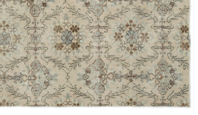 Beige Over Dyed Vintage Rug 4'9'' x 8'5'' ft 145 x 257 cm